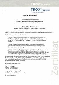 Mitarbeiterzertifikat<br>Schneider - BSK Trox