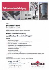Mitarbeiterzertifikat<br>Sachs - BSK Wildeboer