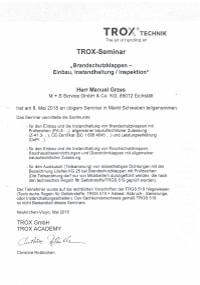 Mitarbeiterzertifikat<br>Grzes - BSK Trox