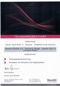 Mitarbeiterzertifikat<br>Strigl - Dendrit Schulung
