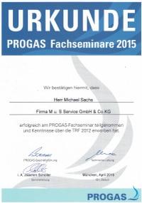 Mitarbeiterzertifikat<br>Sachs - TRF 2012